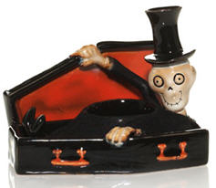 Bony Bunch Coffin and Skeleton Tea Light Holder