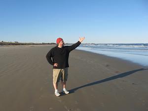 Mike on beach