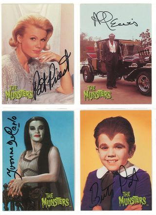 the munsters dart flipcards autograph cards