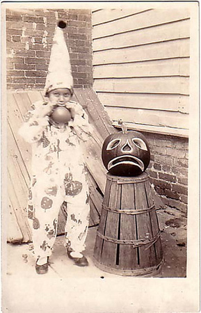 Halloween Trick or Treater Vintage Photograph