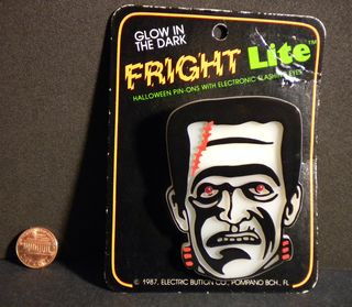 Halloween Frankenstein Monster Fright Lite Pin