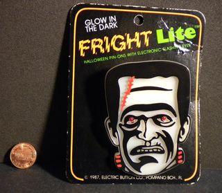 Halloween Frankenstein Monster Fright Lite Pin