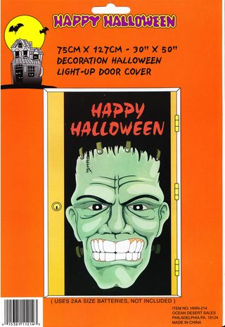 Sc0002  sc 1 st  From Zombosu0027 Closet & Halloween Ghostly Ghouls Door Poster And Frankenstein Face (From ... pezcame.com