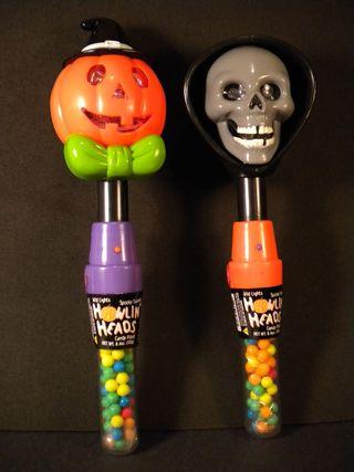 Halloween Howlin' Heads Light-Ups Pumpkin and Hooded Skull