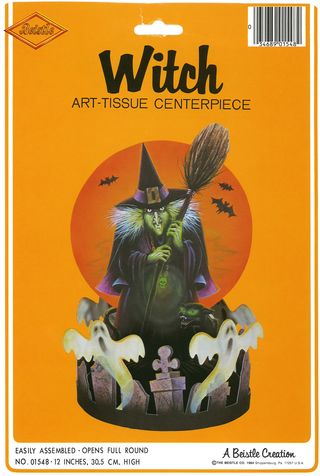 Halloween Beistle  Witch Art-Tissue Centerpiece