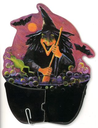 Halloween Honeycomb Witch and Cauldron