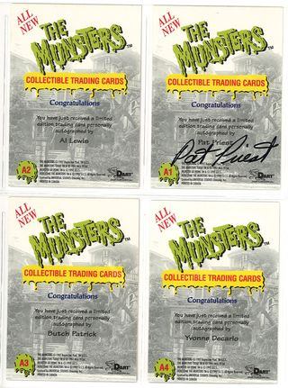 the munsters dart autograph cards