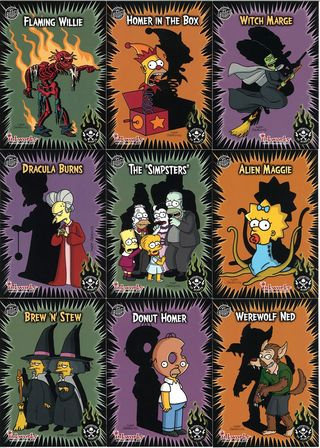simpsons treehouse of horror inkworks cards