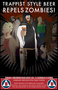 Trappist beer repels zombies