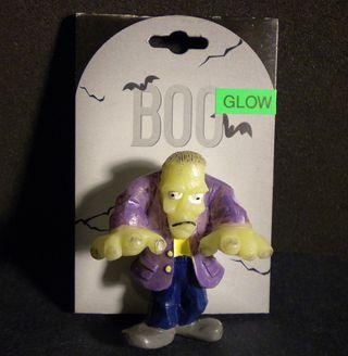 Halloween Frankenstein Monster Glow Pin