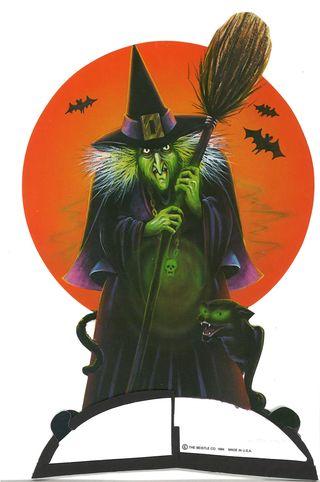 Halloween Beistle  Witch Art-Tissue Centerpiece