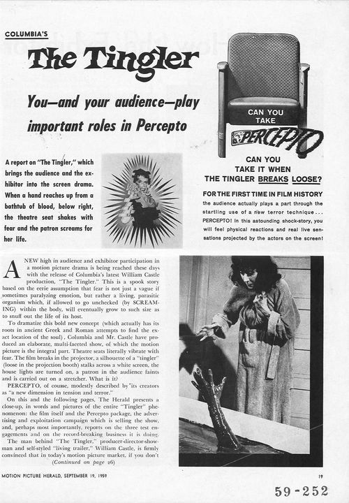 the tingler pressbook