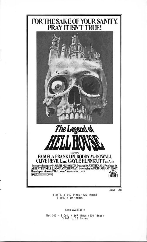 legend of hell house pressbook