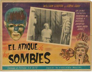 El Ataque de los Sombies Mexican Lobby Card