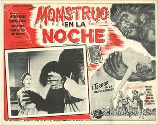 Monstruo En La Noche >Mexican Lobby Card