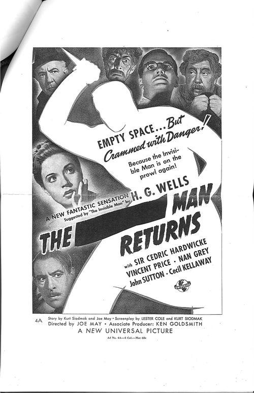 invisible man returns pressbook