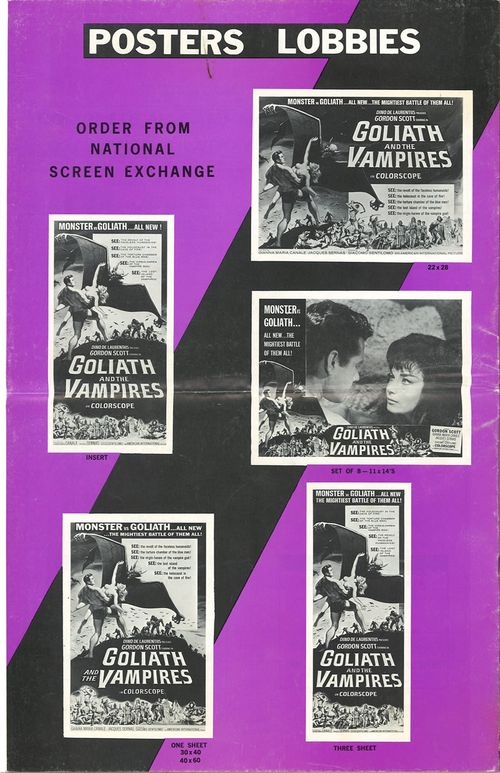 goliath and the vampires pressbook
