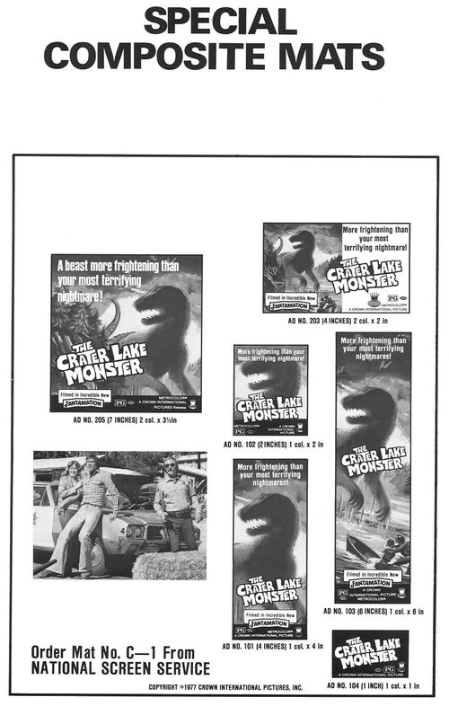 the crater lake monster pressbook