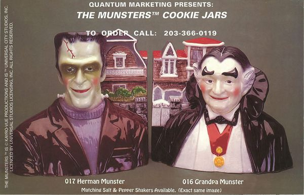 Comic Book Back Covers Munsters Cookie Jars From Zombos