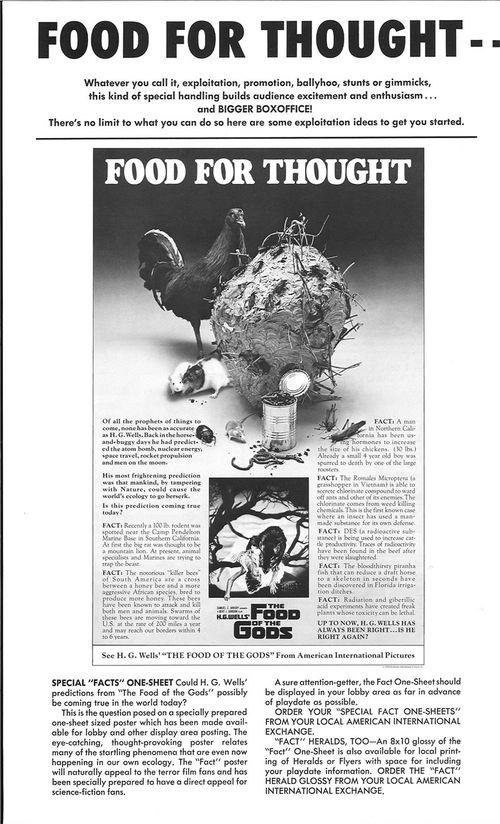 food of the gods pressbook