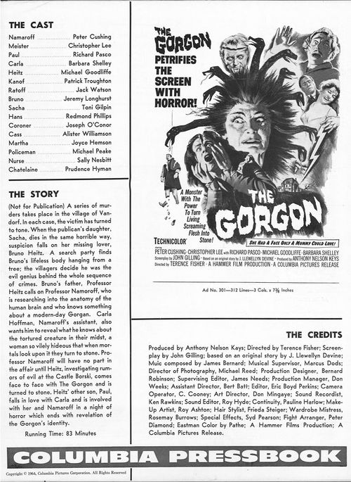 double bill gorgon pressbook