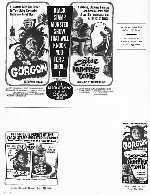 the gorgon pressbook