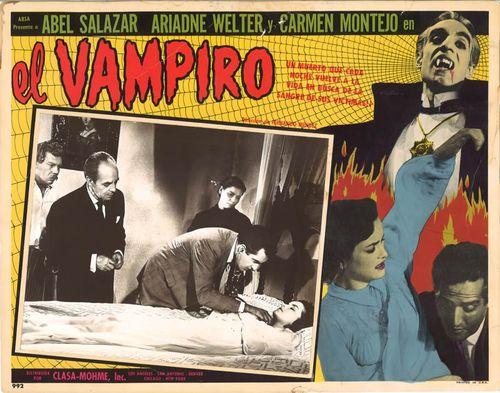 el vampiro mexican lobby card