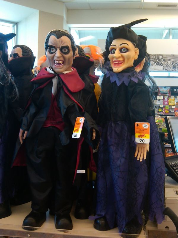halloween walgreens dracula and witch animated figures from zombosu0027 closet