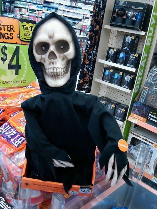 halloween animated grim reaper dancing