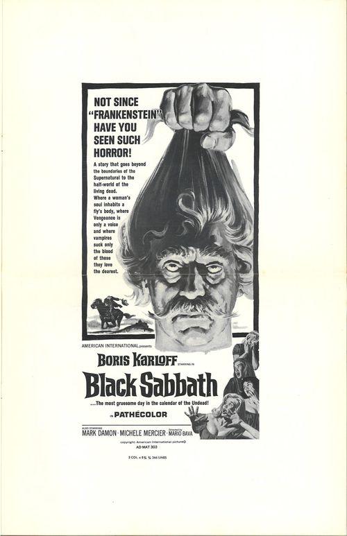 black sabbath pressbook