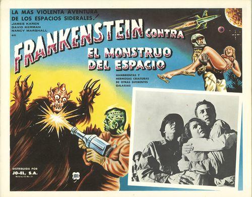 frankenstein contra el monstruo del espacio mexican lobby card