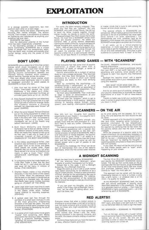 scanners pressbook