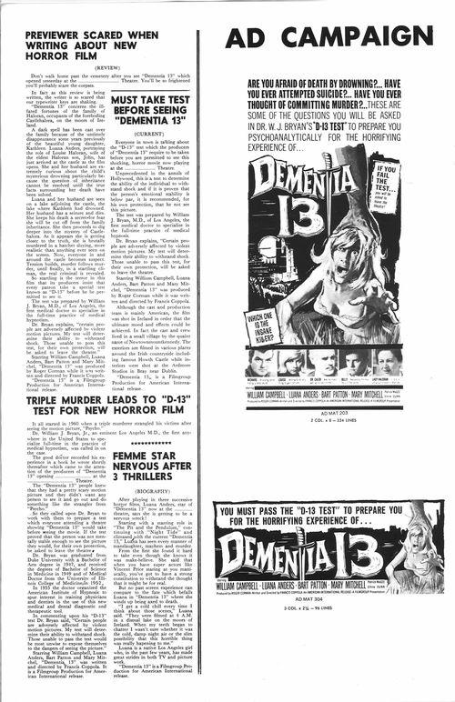 dementia 13 pressbook