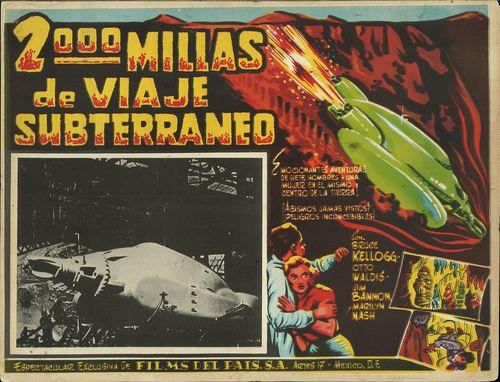 2000 Millas De Viaje Subterraneo mexican lobby card