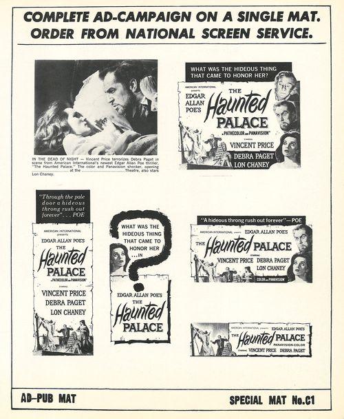 haunted palace pressbook