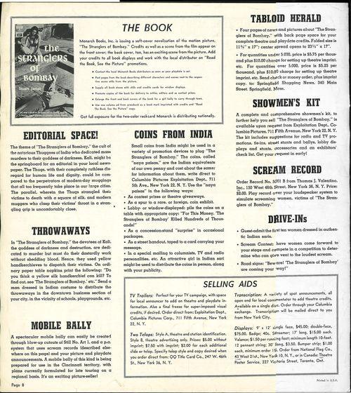stranglers of bombay pressbook