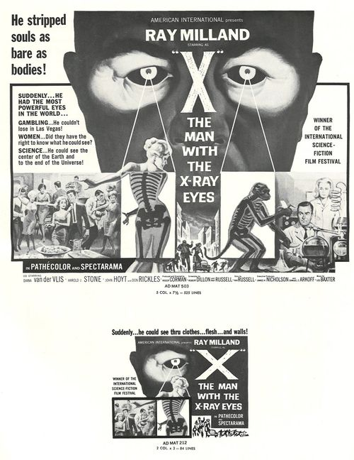 man with the x-ray eyes pressbook