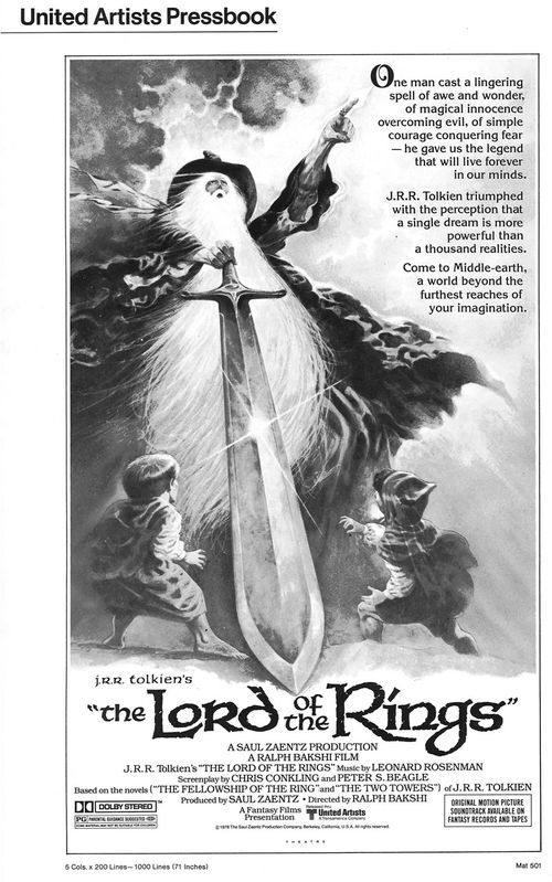 lord of the rings pressbook