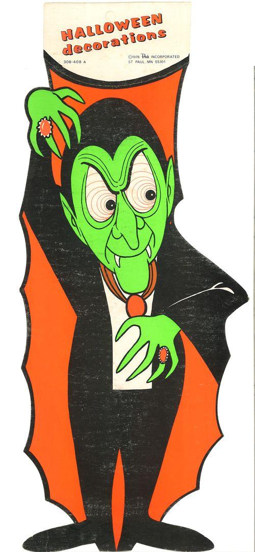 peck halloween paper dracula