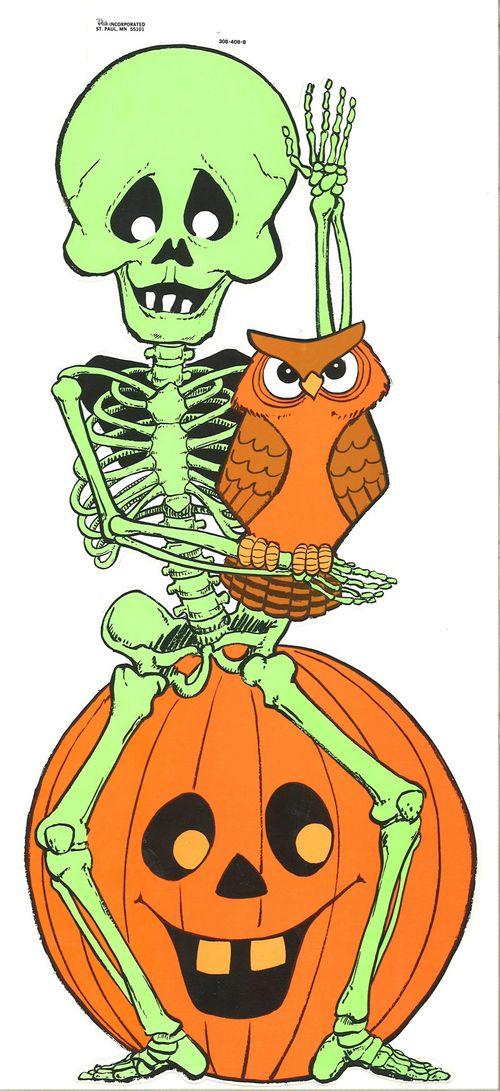 peck halloween paper skeleton