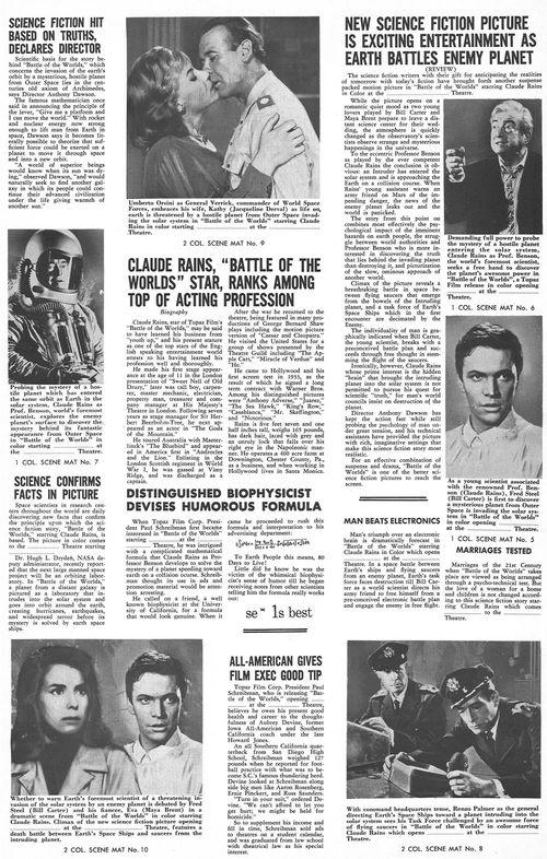 battle of the worlds pressbook