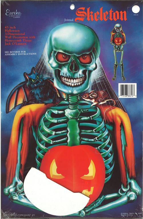 eureka halloween skeleton with jack o lantern