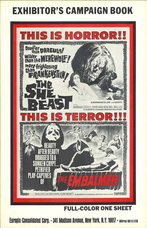 she beast and embalmer pressbook