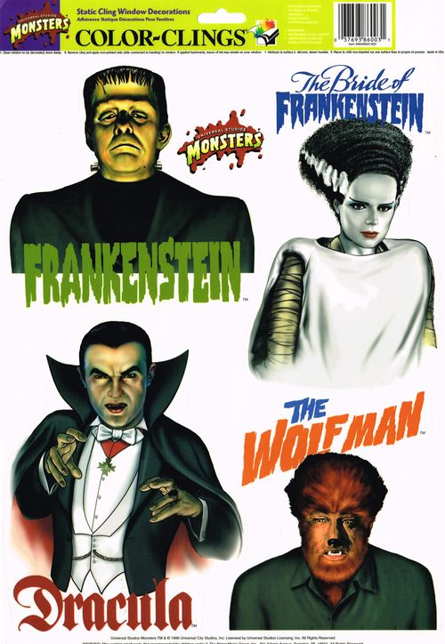 halloween universal monsters window clings - Window Clings Halloween