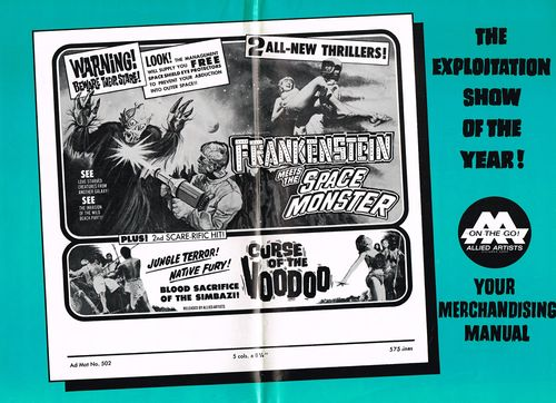frankenstein meets space monster pressbook