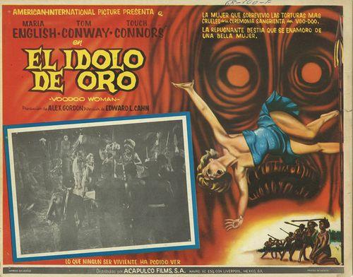 El Idolo De Oro (Voodoo Woman) Mexican Lobby Card