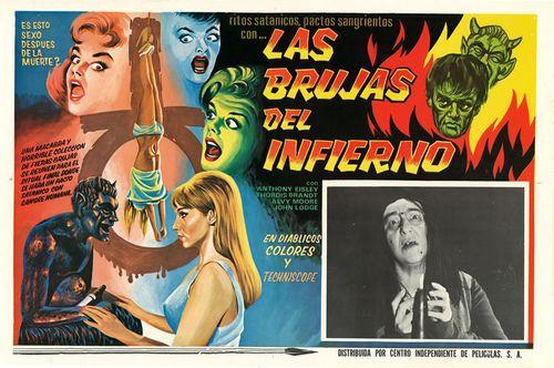 Mexican Lobby Card Las Brujas Del Infierno