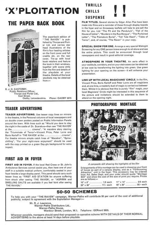 the raven pressbook
