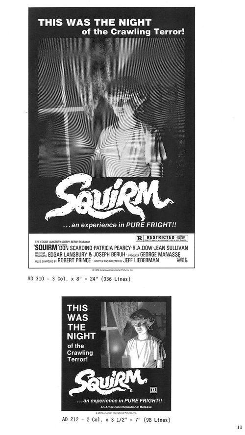 squirm pressbook