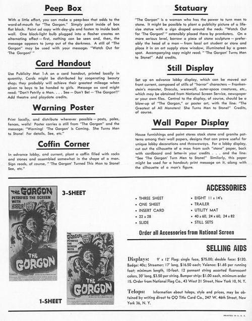 double bill gorgon pressbook